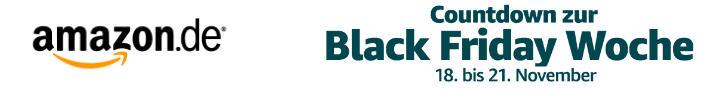 Countdown zur Black Friday Woche bei Amazon - statt Cyber Monday Woche