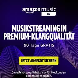 90 Tage kostenlos Musik hören mit Amazon Music HD