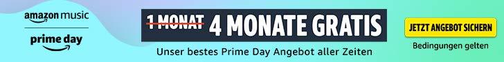 Amazon Music Unlimted - 4 Monate Musik gratis streamen - Prime Day 2021