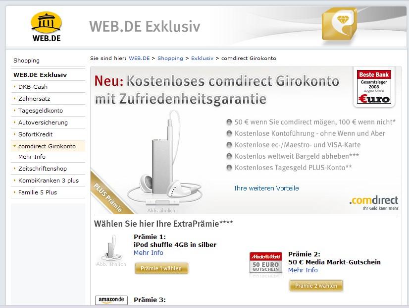 Comdirect 100 Euro Prämie