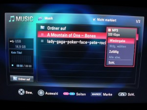 BD 370 Musikmenü