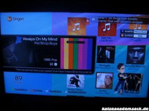 Menu - Anzeige alte Lieder (oben)