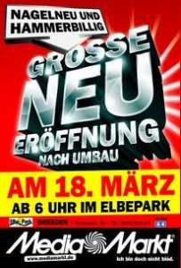 Media Markt Elbepark Dresden Neueröffnung