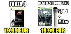 Forza 3 und Beatles Rockband für 19,99 €
