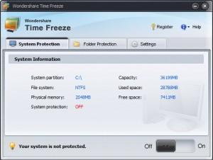 Wondershare Time Freeze - der ultimate Systemschutz