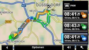 Verschiedene Routenvorschläge
