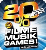 20% auf Filme, Musik und Games bei Saturn