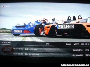 Infoanzeige des VideoWeb 600S