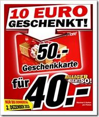 10 € geschenkt - 50 € Gutschein für 40 € kaufen