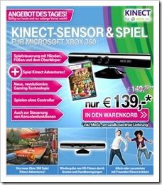 Angebot der Tages - Microsoft Kinect