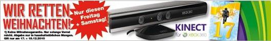 Microsoft Kinect Schnäppchen - Knallerpreis 99 €