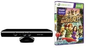 Xbox 360 - Kinect Sensor inkl. Spiel für unter 116 €