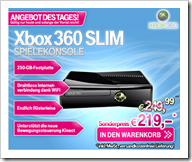 Xbox 360 Slim 250 GB günstigster Preis