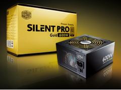 600 Watt leises Netzteil Plug Cooler Master Silent Pro Gold