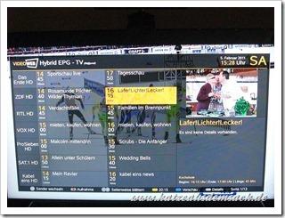 Neuer Hybrid EPG für VideoWeb 600S