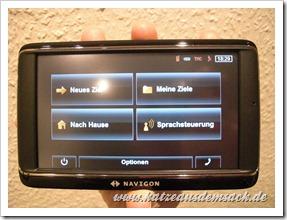 Navigon 70 Premium im Test -Startbildschirm