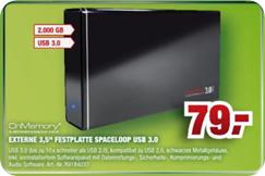 CnMemory Spaceloop 2 TB (2000 GB) externe Festplatte im Angebot