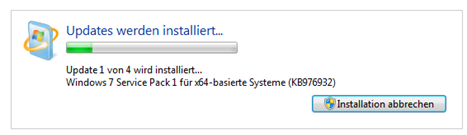 Windows 7 Service Pack 1 installieren - Windows Updates oder SP1 downloaden