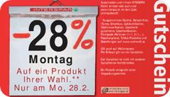interspar.at 28 Prozent Rabatt auf ein Produkt - 28.02.2011