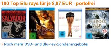 Bluray Filme für 8,97 € -  unter 10 € - amazon.de