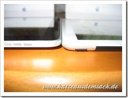 iPad 2 neben iPad 1 - deutlich dünner