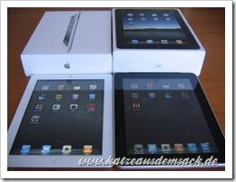 Apple iPad 2 und iPad 1 nebeneinander