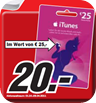 Apple iTunes Guthaben 20% Rabatt für iPhone, iPod, iPad