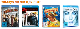 amazon - Bluray Filme für 8,97 €