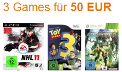 3 Games für 50 € amazon.de / Saturn