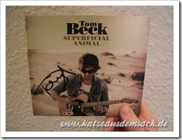 signiertes Album - Tom Beck - Superficial Animal