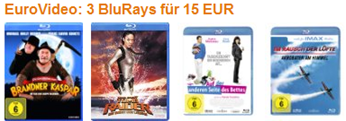 3 Blurays für 15 € - Filme - amazon.de