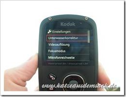 Einstellungsmenü - Kodak Playsport Zx5 im Test