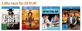 amazon Bluray Angebote - 3 für 25  €