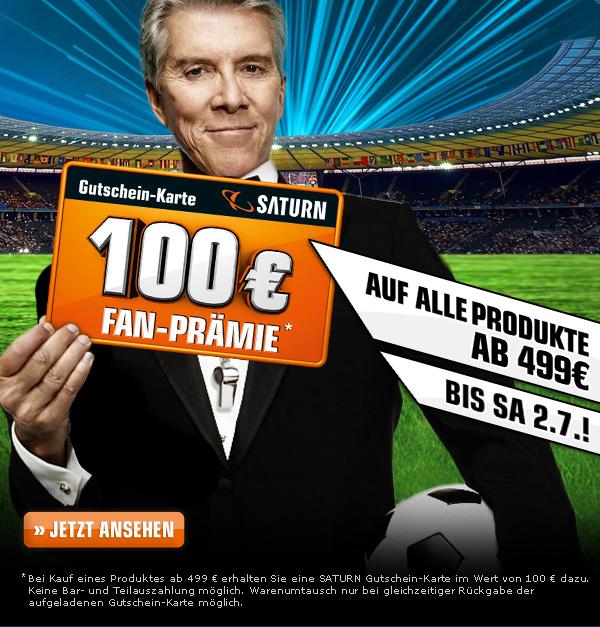 Saturn - Fan Prämie - 100 € Geschenk-Karte