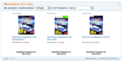 Blitzangebote des Tages - Games - Test Drive Unlimited 2