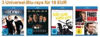 3 Blurays für 18 € - 6 € pro Film