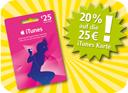REWE - iTunes Geschenkkarte 20% Rabatt