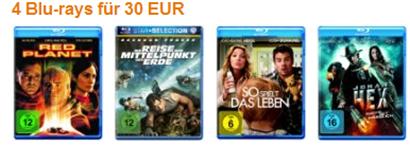 4 Blurays für 30 € - reduziert