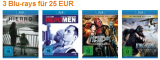 amazon vs saturn - 3 blurays für 25 €