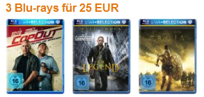 3 Blurays für 25 € - reduzierte Filme