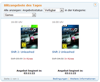 Shift 2 Unleased PC und Xbox 360 - Spiel / Games