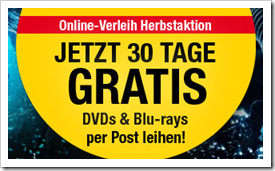 Video Buster - 30 Tage DVDs & Blu-rays per Post ausleihen