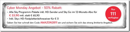 Sky komplett Angebot - Cyber Monday