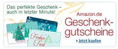 Kein Geschenk? amazon.de und javari.de Gutscheine selbst ausdrucken