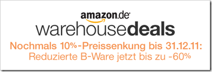 amazon - warehousedeals - 10% Preissenkung