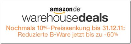 amazon - warehousedeals - 10% Preissenkung