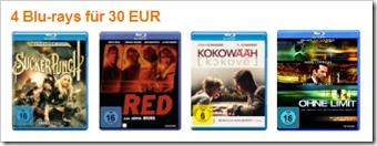 4 Blu-ray Filme für 30 € - Aktion - Angebote - Filme