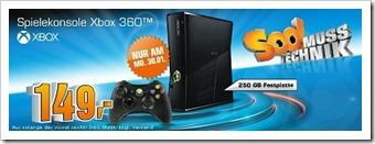 Xbox 360 Slim 250 GB für nur 149 €
