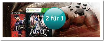 buch.de - 2 für 1 - Games / Spiele für PC und Konsolen (Xbox 360, PS3, 3DS)