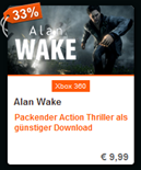 Alan Wake Downloadcode Xbox 360 billiger